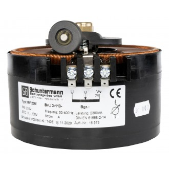 Stelltranformator 230V/0~230V 2A 3Pkt. Befestigung